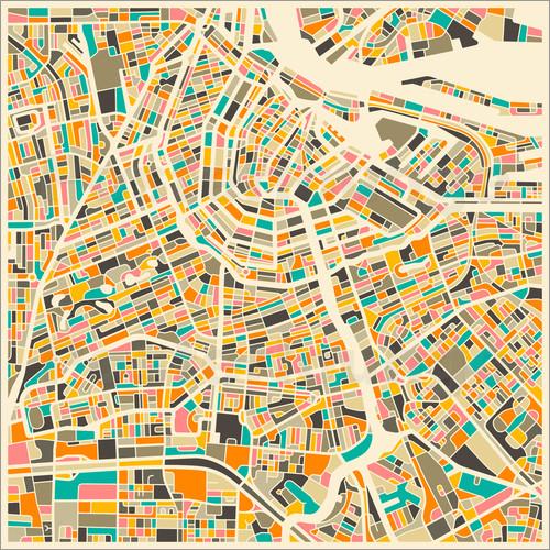 Poster Amsterdam Karte 1512429 Nuria Sierra